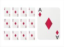 Set Spielkarten Lizenzfreie Stockbilder