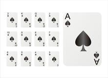 Set Spielkarten Stockfotos