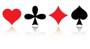 Set Spielkarten. Lizenzfreie Stockfotografie