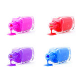 Set of  spilled nail polish Royalty Free Stock Image