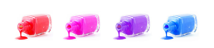Set of  spilled nail polish Stock Image