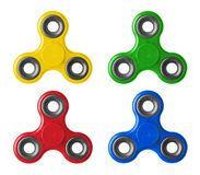 Set of spinners royalty free stock photo
