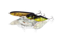 Set spinning lures for predatory fish Stock Image