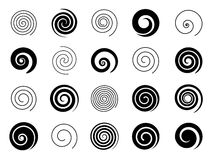 Set of spiral elements Stock Image