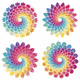 Set of Spiral Stars Royalty Free Stock Photography