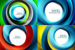 Set of spiral swirl line backgrounds Stock Image
