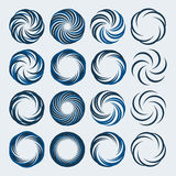 Set of spiral and swirls logo design elements Stock Photos