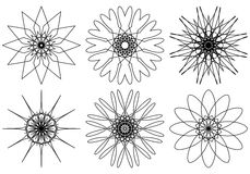 Set of spirograph design elements. Vector Stock Photography