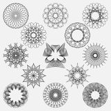 Set spirographic elements. Perfect for design templates. Royalty Free Stock Image