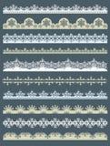 Set Spitze-Papier für Weihnachten, Vektor Lizenzfreies Stockbild