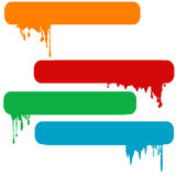 Set of splash color paint banners Royalty Free Stock Photography
