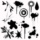 Set of Splats Elements Royalty Free Stock Image