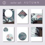 Set spokojne jesieni broszurki royalty ilustracja