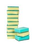 Set of the sponge for dishwashing. Is insulated not white background Stock Photo