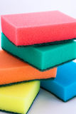 The set of sponges. The set of colored sponges Royalty Free Stock Images
