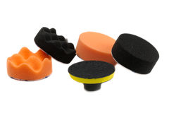 Set of sponges for polishing the car Stock Images