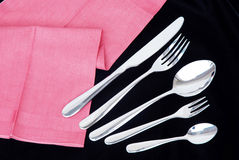 Set of spoon, Fork, knife. Royalty Free Stock Image