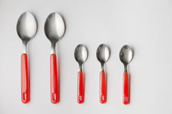 Set of spoons Stock Photography