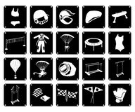 Set of Sport Accessory Icons on White Background Royalty Free Stock Images