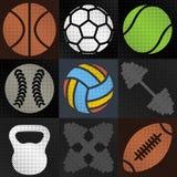 Set sport background, vector illustration. Royalty Free Stock Photography