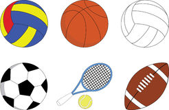 Set of the sport balls Stock Image