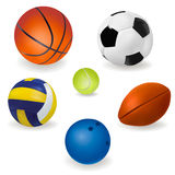 Set of sport balls. Vector Stock Photo