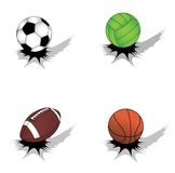 Set of sport balls Stock Image