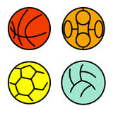 Set sport balls Royalty Free Stock Photos