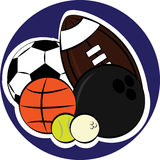 Set of sport balls. On circle background Royalty Free Stock Photography