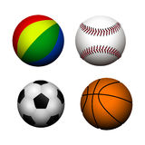 Set of sport balls Royalty Free Stock Photography