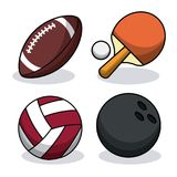 Set sport balls equipment image. Vector illustration eps 10 Royalty Free Stock Images
