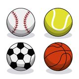 Set sport balls equipment image. Vector illustration eps 10 Stock Photo