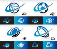 Swoosh Sport Balls Icons Royalty Free Stock Image