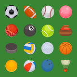 Set of sport balls isolated vector. Royalty Free Stock Photos