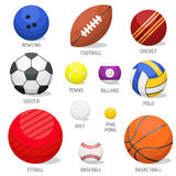 Set of sport balls isolated vector. Royalty Free Stock Photography