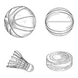 Set of sport balls Stock Images