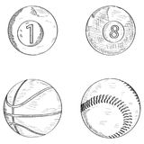 Set of sport balls Royalty Free Stock Photo