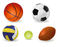 Set of sport balls. Vector. Illustration Stock Photography