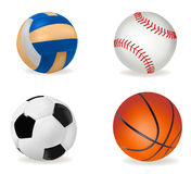 Set of sport balls. Vector. Stock Images