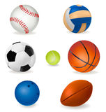 Set of sport balls. Vector. Illustration Stock Images