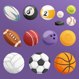Set of sport balls  vector collection Royalty Free Stock Photography