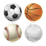 Set of Sport balls. Royalty Free Stock Photos