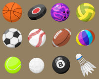 Set of sport balls  vector isolated Royalty Free Stock Photography