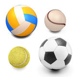 Set of sport balls. On white background Royalty Free Stock Photography