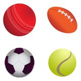 Set of sport balls. On a white background, Vector illustration Stock Photography