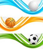 Set of sport banners Stock Image