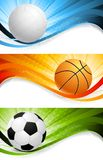 Set of sport banners Stock Photo