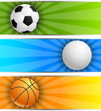 Set of sport banners Stock Images