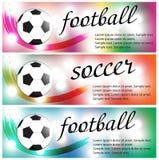Set of sport banners. Football (soccer). Stock Photos