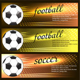 Set of sport banners. Set of football (soccer) banners and place Royalty Free Stock Photo